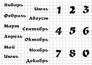 Вечный календарь авангард