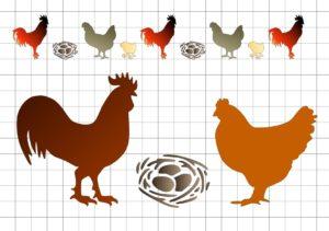петух курица гнездо
