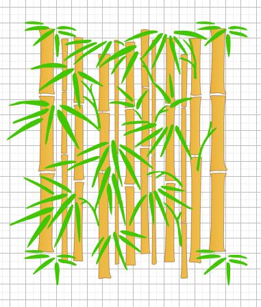 Бамбук(двухслойный трафарет)