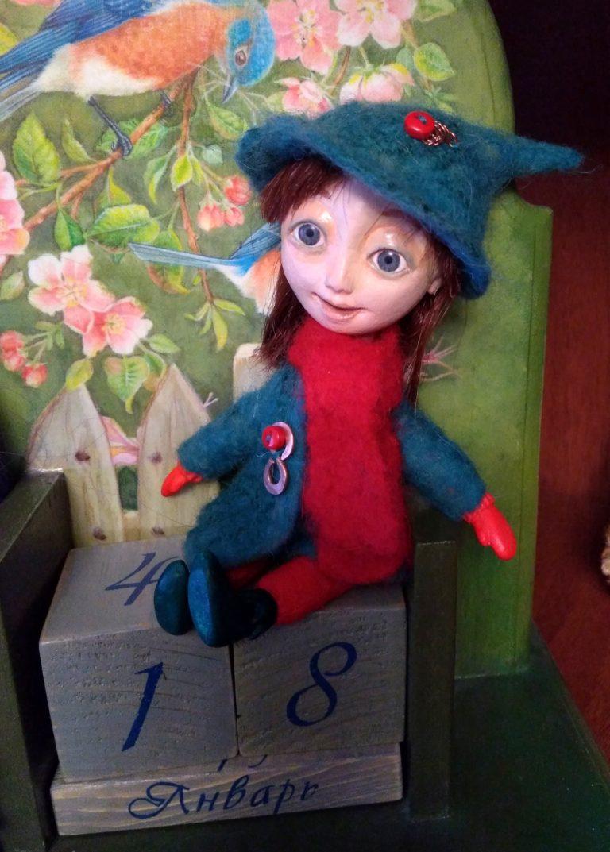 Авторская кукла - Домашняя Эльфа.
